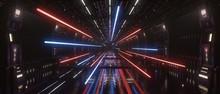 Spaceship Interior Bridge Corr...