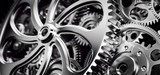 Fototapeta Kawa jest smaczna - Mechanism, gears and cogs at work. Industrial machinery