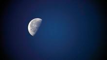 Beautiful Half Moon On The Nig...