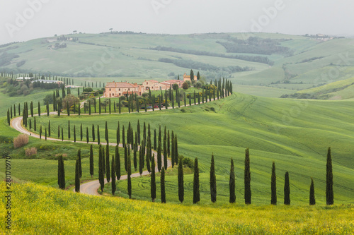 Fotografiet  Spring Tuscany landscape