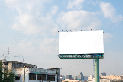 Fotografía  billboard or advertising poster for advertisement concept background
