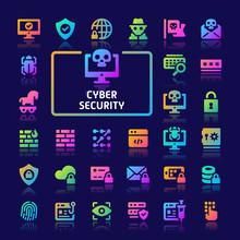 Cyber Security Gradient Vector...