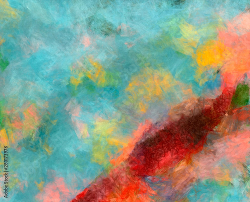 Oil Pastel Drawing Abstract Color Background Fine Art