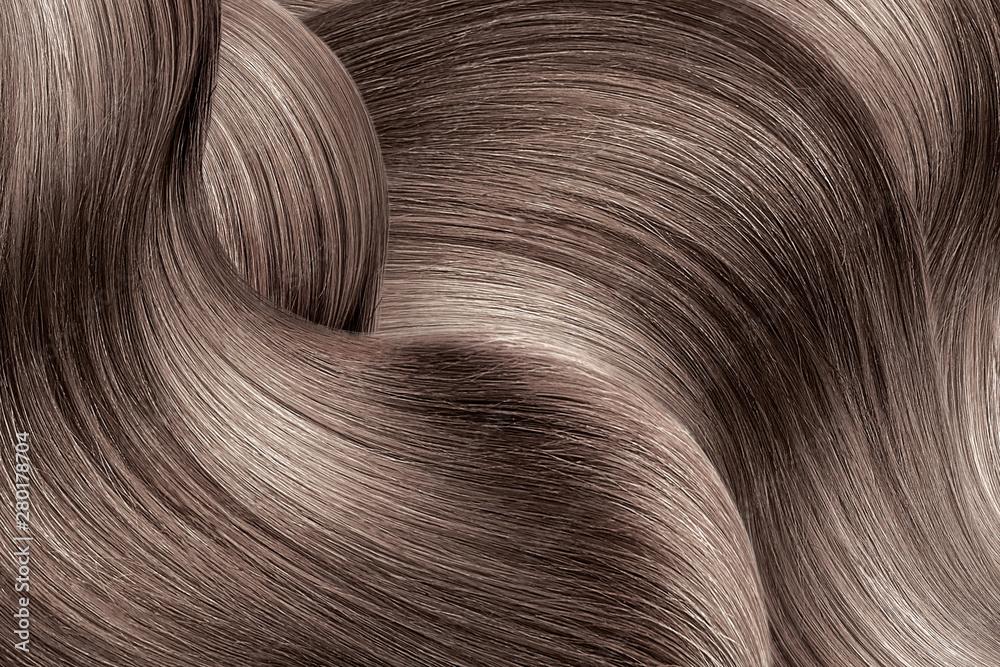 Fototapeta Brown shiny hair as background