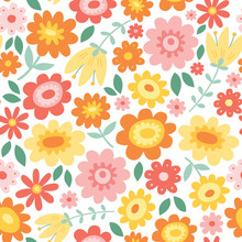 Vector Floral Pattern With Flo...