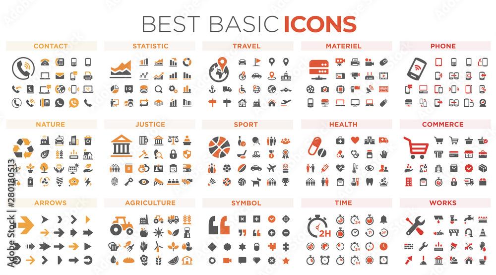Fototapety, obrazy: Basic icons