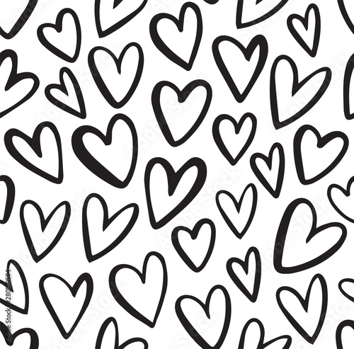 seamless-heart-pattern-in-doodle-style-hand-drawn-abstract-vector-background-black-and-white