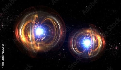 Canvas Print Quantum particle, quantum mechanics
