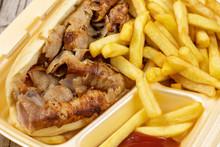 Sandwich Kebab Et Frites