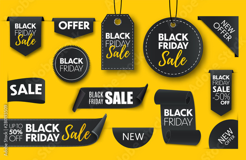 Fotomural  Black friday sale banners