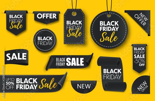 Fotografía  Black friday sale banners