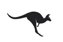 Kangaroo Jump Icon. Side View....