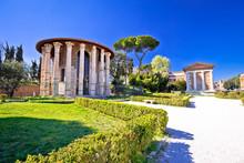 Forum Boarium And Temple Of Portuno Acient Landmarks Of Eternal City Of Rome