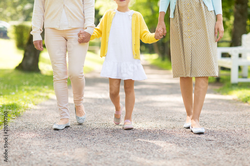 Fotografia, Obraz  family, generation and people concept - happy mother, daughter and grandmother w