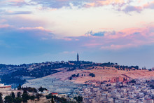 Jerusalem Cityscape With Tower...