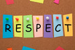 canvas print picture - Respect On Colorful Stickers