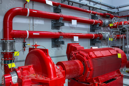 Canvas-taulu Industrial fire pump station