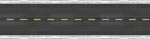 Long Asphalt Road With Marking Lines Yellow Stripes Traffic On The Road Surface Texture Background.