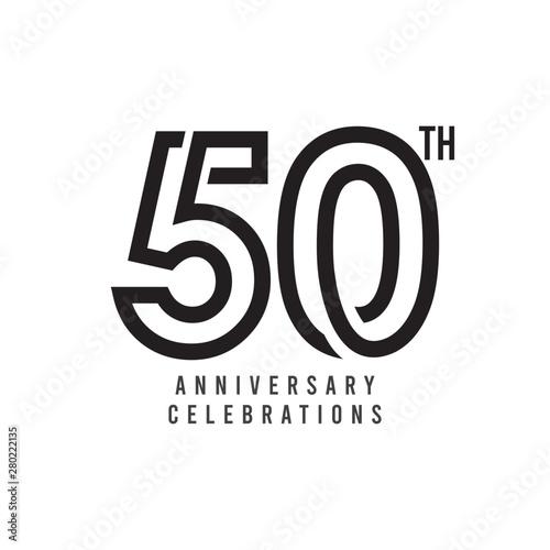 Tela  50 Th Anniversary Celebration Vector Template Design Illustration