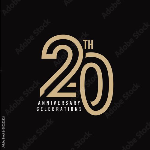 Fotomural  20 Th Anniversary Celebration Vector Template Design Illustration
