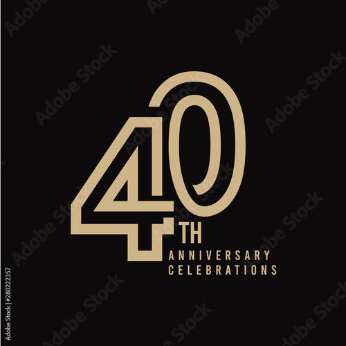 Tela  40 Th Anniversary Celebration Vector Template Design Illustration