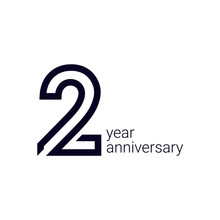 2 Year Anniversary Celebration Vector Template Design Illustration