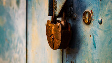 Old Padlock On The Gate
