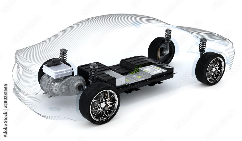 Fototapeta 3D Illustration Elektromotor