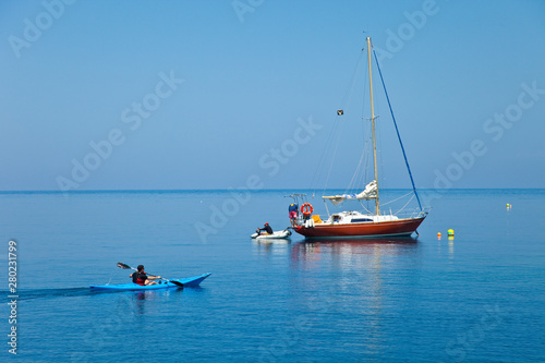 L'Illa Grossa, Reserva Natural Islas Columbretes, Mar Mediterráneo, Castellón, C Fototapeta