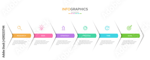 Photo  Vector infographic label template with icons