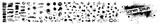 Fototapeta Młodzieżowe - A set of black spots of paint. Vector illustration