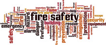 Fire Safety Word Cloud