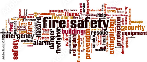 Valokuva Fire safety word cloud