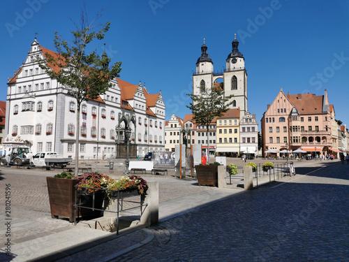 Poster Cracovie Lutherstadt Wittenberg Marktplatz