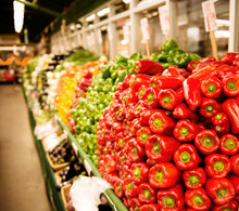 Bell Peppers For Sale At A Mar...