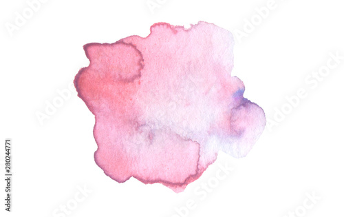 Abstract watercolor and acrylic blot painting. Pink Color design element.