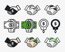 Corruption Bribe Money Handsha...