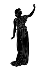 An Ancient Greek Girl In A Tun...