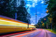 Germany, Illuminated Tramway P...