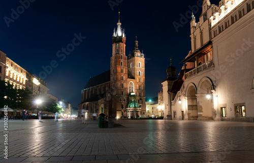 Foto op Canvas Krakau St. Mary's Basilica in Krakow