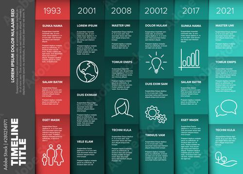 Valokuva  Vector multipurpose Infographic timeline table template