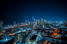 Toronto Cityscape From Distillery District