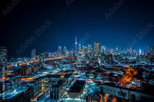 Toronto Cityscape from Distillery District Wallpaper Mural