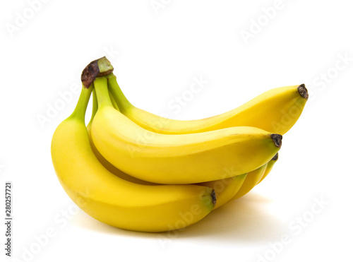 fototapeta na ścianę Bananas on a white background