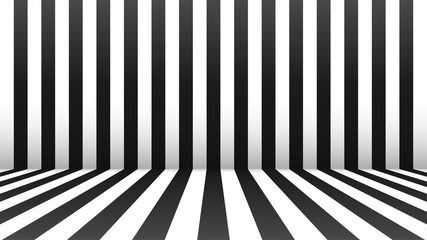 Black and white abstract ro...