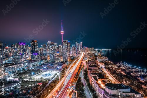 Photo Toronto Night Skyline Looking East