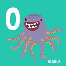 English Alphabet For Kids Letter O Octopus