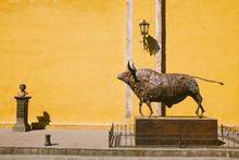 Bull Statue In Mexico