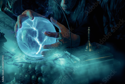 Crystal ball. Canvas Print
