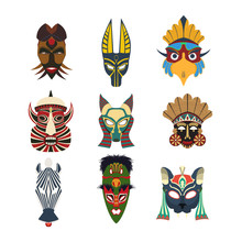 Tribal Masks Set 6